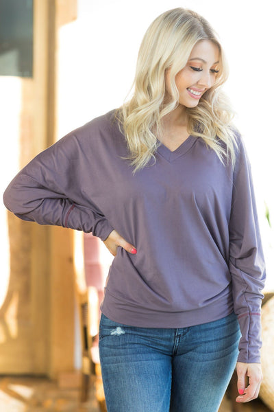 Devoured Dolman Top In Purple - Filly Flair