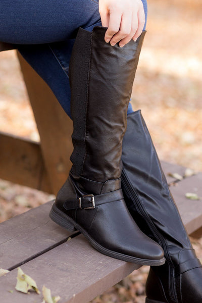 Leading The Way Boots in Black (Wide Calf) - Filly Flair