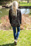 Where We're Going Lace Dolman Sleeve Kimono in Black - Filly Flair