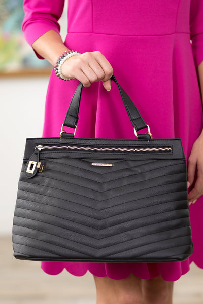 Rampage Convertible Handbag in Black - Filly Flair