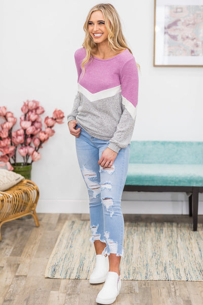 Nobody's Love But Yours Long Sleeve Top in Lavender - Filly Flair