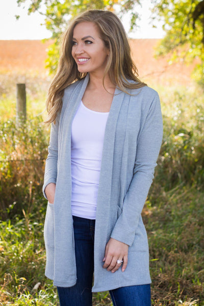 Filly Flair Exclusive: All Is Possible Cardigan In Grey - Filly Flair