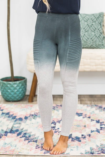 Get Things Together Ombre Leggings in Grey - Filly Flair