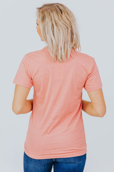 Good Pickin' Pumpkin Print Short Sleeve Top in Dusty Rose - Filly Flair