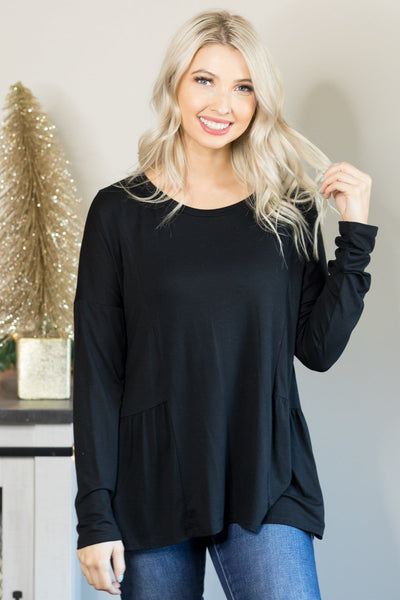 Breaking Free Baby Doll Tunic in Black - Filly Flair