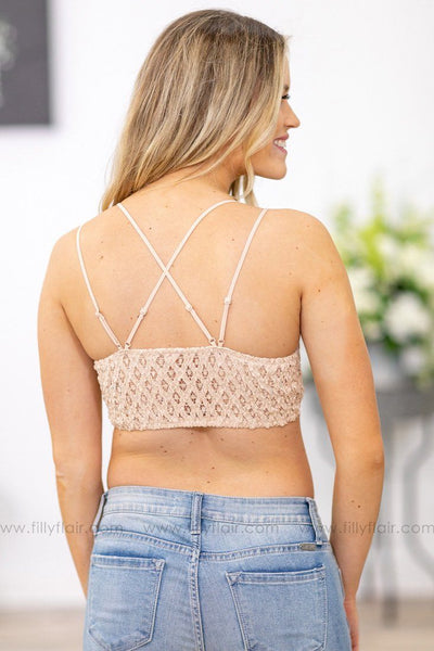 Mine All Mine Lace Bralette In Blush - Filly Flair