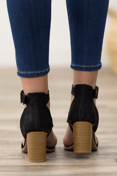 Caris Strappy Heels in Black - Filly Flair