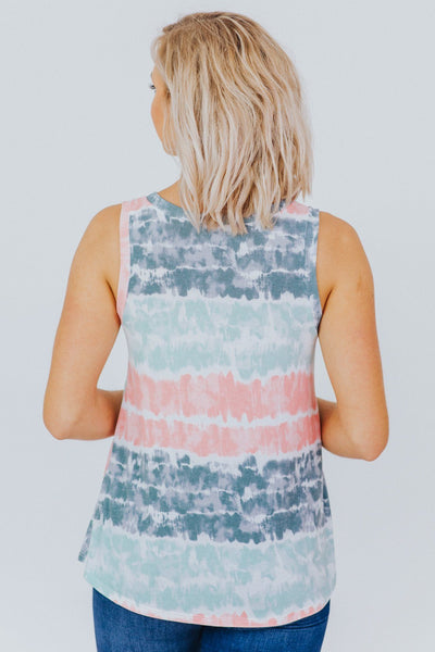 Show Me Off Tie Dye Tank in Aqua - Filly Flair