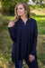 Yours Forever One Button Long Sleeve Cardigan in Dark Navy