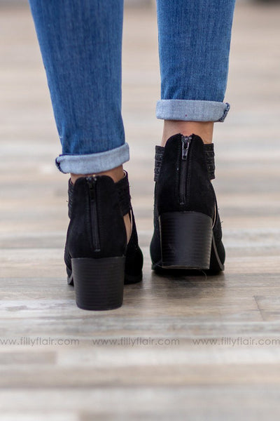 Topanga Cut Out Bootie in Black - Filly Flair