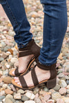 Take It Down Braided Haidee Brown Burnish Sandal - Filly Flair