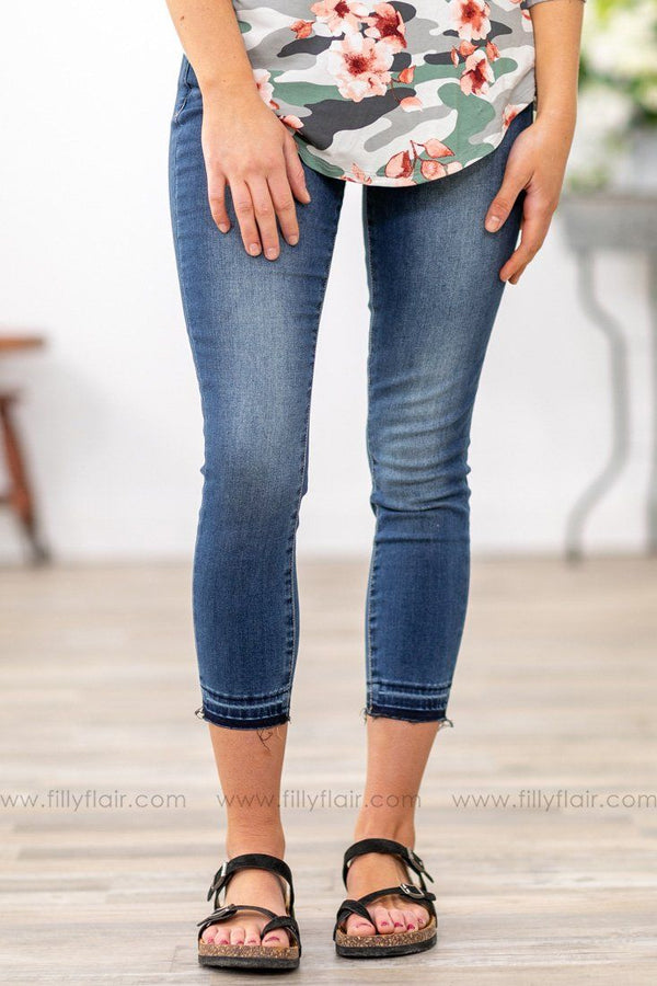 Articles of Society Katie Skinny Crop Ankle Jeans - Filly Flair
