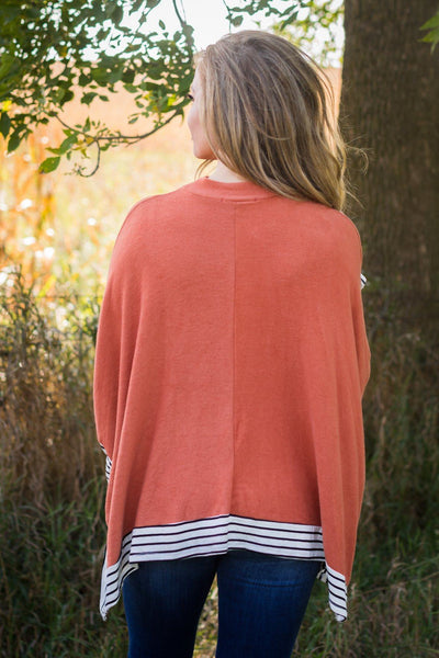 Doing My Thing Long Sleeve Top in Rust - Filly Flair