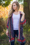 Party Down The Street Printed Kimono in Navy - Filly Flair