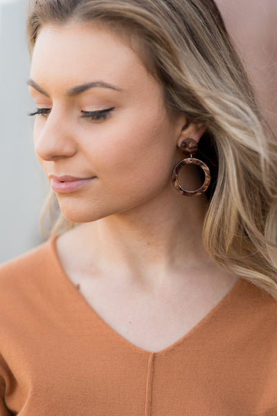 One Thing Right Earrings in Brown - Filly Flair