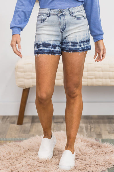 Out Of Line Jean Shorts in Light - Filly Flair