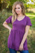 The Only Reason V Neck Tunic in Plum