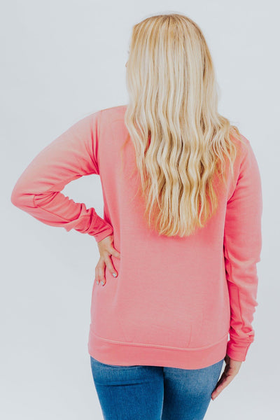 Plain Jane Sweatshirt in Flamingo Pink - Filly Flair