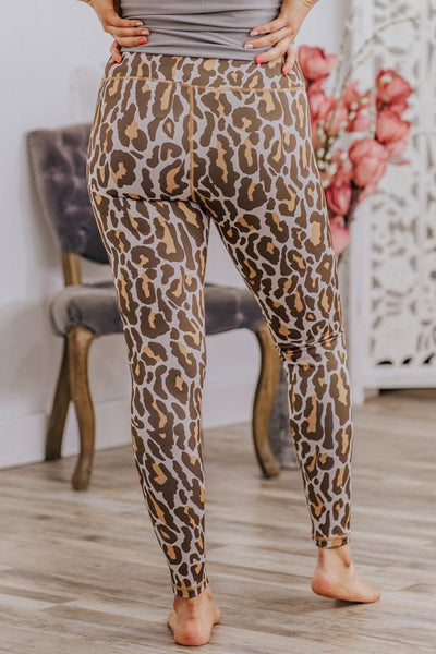 Say the Way I Love You Leopard Leggings in Tan - Filly Flair