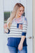 Walking Down The Street Color Block Top in Navy