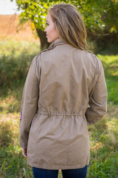 Until Summer Comes Around Jacket in Taupe - Filly Flair