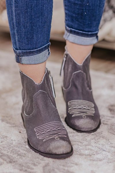 Your Country Side Booties in Black - Filly Flair