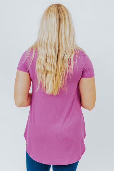 Rebel Yell Top in Mauve - Filly Flair
