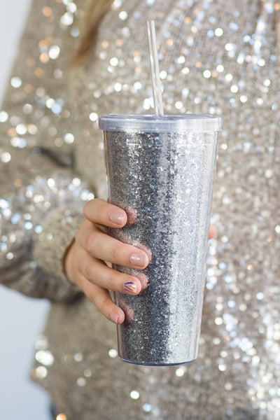 Save One Turtle At A Time Tumbler In Silver Glitter - Filly Flair