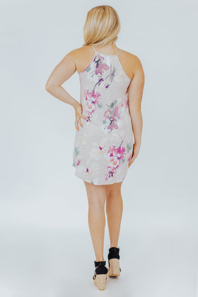 Game of Love Floral Print Dress in Lavender - Filly Flair