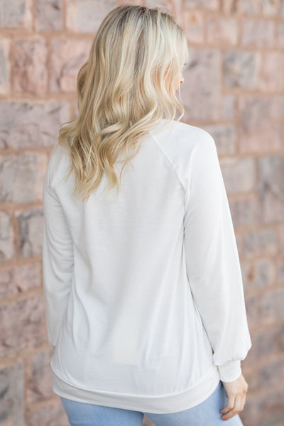 Tell Me Graphic Top In White - Filly Flair