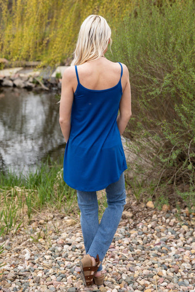 Take Me As I Am Reversible Tank Top in Blue - Filly Flair