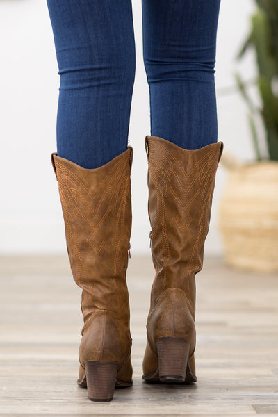 Be My Girl Cowgirl Boots in Tan - Filly Flair