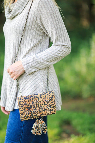 I Go Wild Leopard Cross Body Purse - Filly Flair