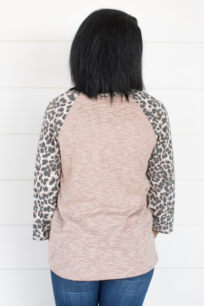 Feeling Emotions Animal Print Top in Taupe - Filly Flair