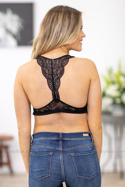 She's Dangerous Lace Bralette In Black - Filly Flair