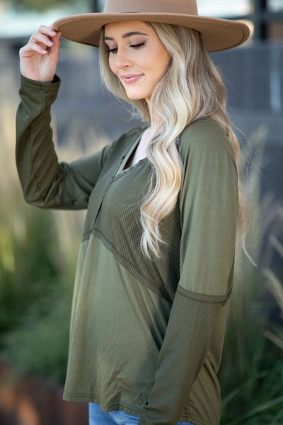 Perfect For Layering Seamless Tank Top in Olive - Filly Flair