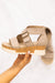 Top Dog Woven Straps Cork Wedge in Sand