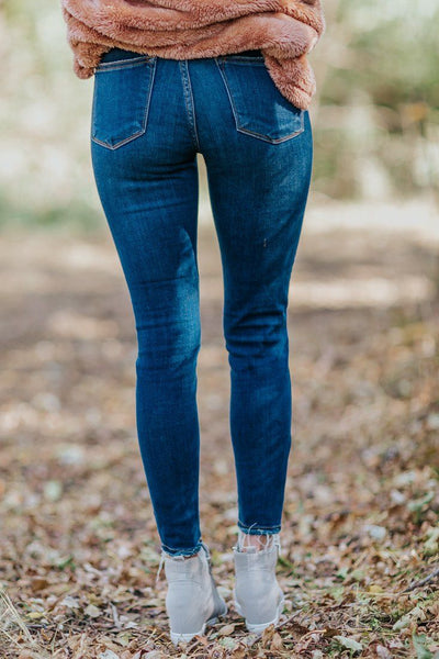 Jadie Judy Blue Mid Rise Distressed Jeans - Filly Flair