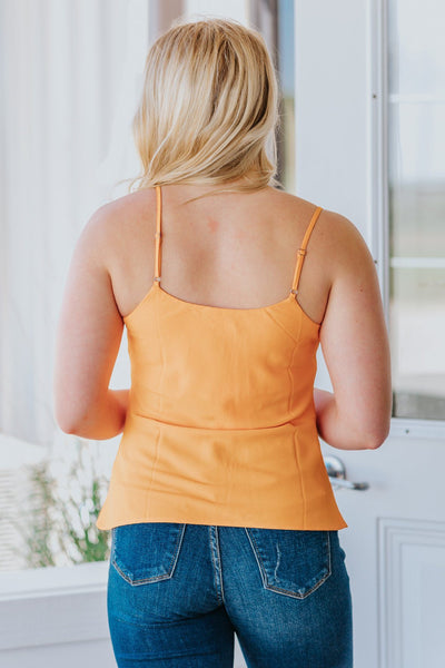 Make Yourself A Priority Tank Top in Orange - Filly Flair
