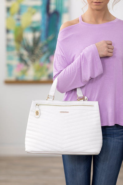 Rampage Convertible Handbag in White - Filly Flair