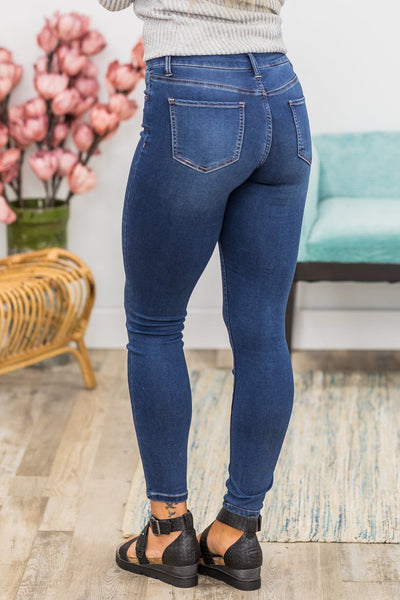 Love Positive Attitudes Hyper Denim Mid-Rise Skinny Jean - Filly Flair
