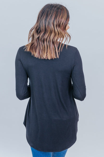 New Day Long Sleeve Top in Black - Filly Flair