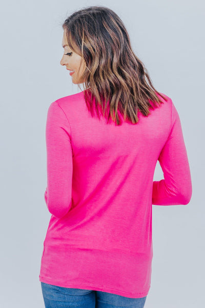 Just Imagine Long Sleeve Tee in Hot Pink - Filly Flair