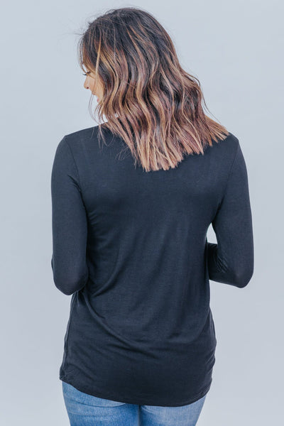 Just Imagine Long Sleeve Tee in Black - Filly Flair