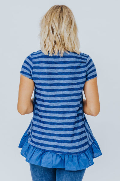 Livin' It Up Striped Top in Navy - Filly Flair