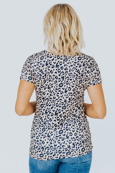 Wild Side Tee In Leopard Print - Filly Flair