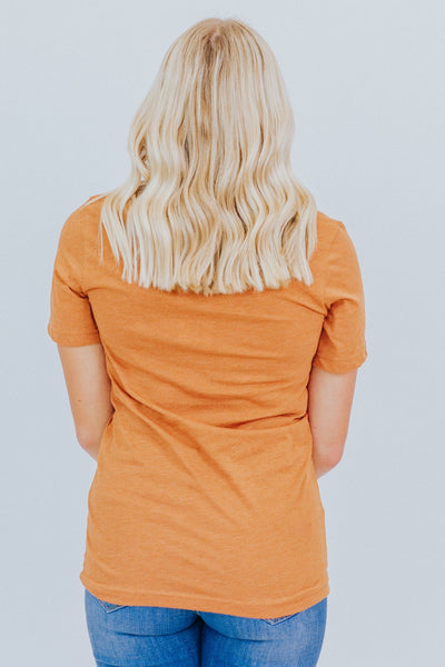 """Hey There Pumpkin"" Graphic Tee in Heather Autumn - Filly Flair"