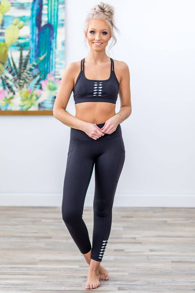 Going Nowhere Fast White Origami High Rise Leggings in Black - Filly Flair