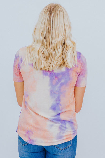 Not To Be Mistaken Tie Dye Tee In Lavender - Filly Flair