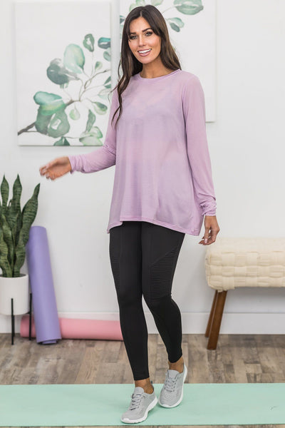 Against The World Activewear Top In Lavender - Filly Flair